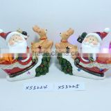 2014 New hot sales Santa clause with reindeer, tress and gift