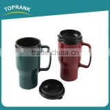 Toprank BSCI Factory New Design Custom Printed Reusable Car Mug,Plastic Travel Coffee Mug