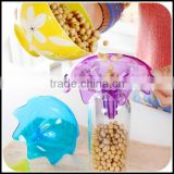 Unique PS flower transparent colorful food funnel manufacturer/wholesale PS hopper for sale