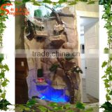 Decorative indoor artificial wall waterfall fountain