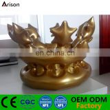 PVC inflatable golden crown hat toy for promotion