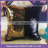 SQP022L black gold two tone sequin fabric wholesale throw pillow cases