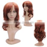 Women's Half Wig Cheap Synthetic medium Wavy Red Hair Wig For Black Women Heat Resistant Realistic Fake Hair