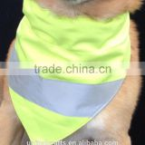 Yellow XLARGE Reflective Fluorescent Dog Bandana Slip Onto Collar