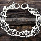 2013 Newest Trendy Fleur De Lis Shape Link Men Bracelet