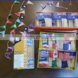 wooden flag sticks party supply christmas decor