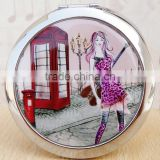 Fancy Design Promotional Gifts Customized Logo Hand Mirror,Wholesale Cosmetic Mirror Printed with Logo
