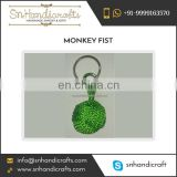 Eye Catching Designs Knot Keychain Monkey Fist Nautical Rope Keychain Available for Sale