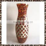 Floral Designs Red Flower Patterns Handmade Mosaic Large Wedding Vases