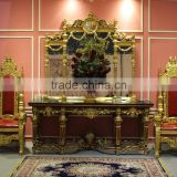 Home/hotel furniture polyresin table and mirror