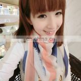 2014 women fashion style lovely long polyester square shawl(PP013DB)