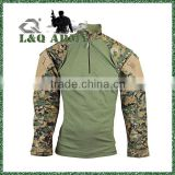 Nylon Cotton 1/4 Zip Military Tactical Combat Shirt