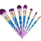 Pro collection cosmetic makeup brushes latest 7pcs unicorn brushes
