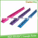 "6"" and 12"" Metal Aluminium Triangle Ruler for Engineer Scale"