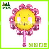 Cute sunflower shaped Balloons Party Decoration Aluminum Foil Membrane Ballons