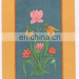 Flower Miniature Ethnic Hand Painted Wall Decor Water Color Original Paper Floral Painting