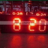 12 Inch Red Waterproof LED Clock Display with Temperature Function
