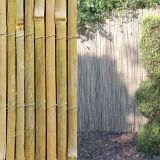 Split Bamboo Fence with galvanized wire