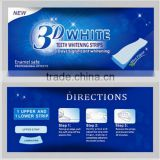 deep cleaning teeth whitening patch 3D teeth whitening system with impermanent filling material