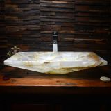 Natural White Onyx bathroom Vessel sink LO-1001