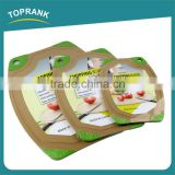 Cheap wholesale various size kitchen ware odourless TPR serging durable plastic chopping board