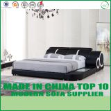 Latest bed design genuine leather bed LB824