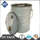 20L tinplate pail for oil/chemical/paint pail/can/drum with lock ring/beading lid and handle