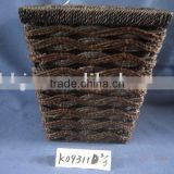 Brown square paper rope hand-woven scrap waste basket
