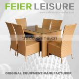 FEIER A6007CH Popular Yellow 7 PCS Dining Set in Discount