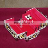 2013 new design bet quality aluminium Tatoo kit case , Tatto case .cosmetics case, with 4 compartments plates inside .