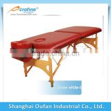 Acrofine red folding and portable massage table with soft PU leather covers