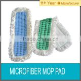 Microfiber scrubbing mop pad with fringe/cleaning sweeper
