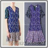 European Fashion Summer Women Print Casual Dress