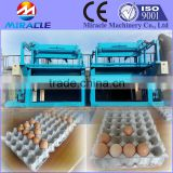 Paper tray making machine, egg tray, shoes tray, bottle tray pulping, forming, drying machines