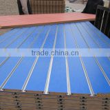 18MM MELAMINED SLATWALL MDF