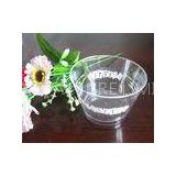 Transparent Plastic Disposable Ice Cream Cups 150ml 5oz 5.3cm