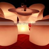 fashionable outdoor waterproof luminous led table with chair