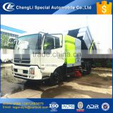 CLW reliable quality cheap price street road sweeping truck with high pressure pump import components for hot sale