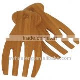 Wholesale eco friendly bamboo salad serving hands/Bamboo Salad Hands Kitchen Set