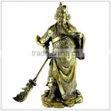 The resin copper plating guan yu statue