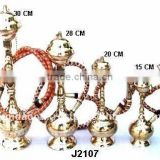 Best selling Hookah made in brass in four sizes with mirror polish