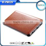 Free custom logo high capacity leather power bank 12000mah