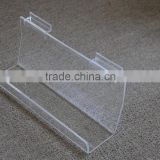 A4 wall mount acrylic slanted sign holder 5x7 customized acrylic sign holder