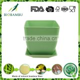 Quality assurance Popular Biodegradable rice husk flower garden pot with tray