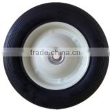 8 inch semi-pneumatic rubber wheel for air compressor, trolley, garbage bin