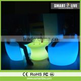 Commercial outdoor rechargeable plastc night club luminous led chair led light sofa