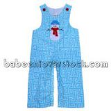 Adorable Snowman appliqued longalls for boys - BB838