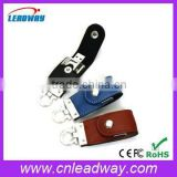 <b>Keyring</b> style leather housing <b>usb</b> flash <b>drive</b>