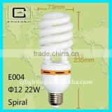 durable E27 half spiral energy saving lamp green energy home fluorescent light fixture