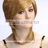 Wholesale Synthetic blonde fake hair style lace wigs in japanese fiber hair